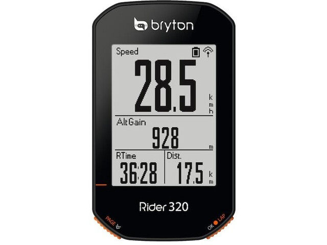Bryton Rider 320 T Bike Computer with Candence Sensor/Heart Rate Monitor, black